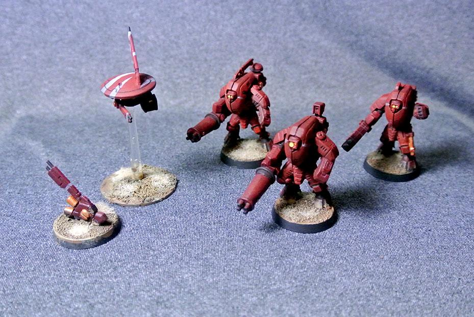 Tau Faright XV25 Stealth Suits