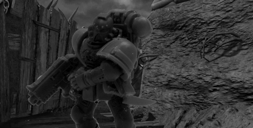 Short Story Image, Space Marines, Tall Scale