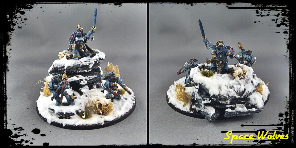 Diorama, Snow, Space Marines, Space Wolve, Wolf