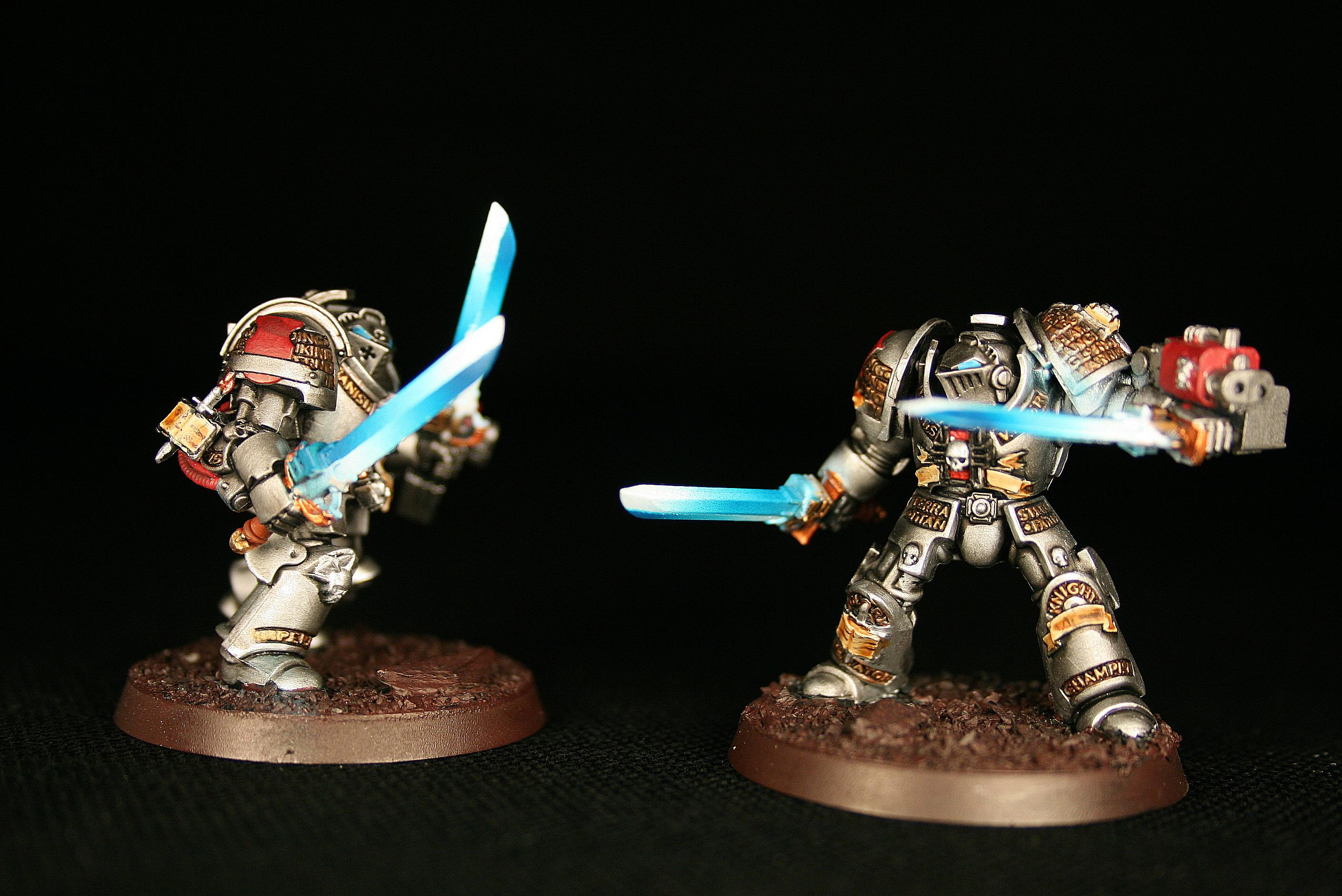 Falchions, Force Weapons, Grey Knights, Space Marines, Terminator Armor