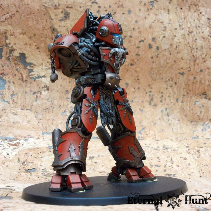 Chaos, Chaos Space Marines, Conversion, Counts As, Daemon Engine, Decimator, Dreadknight, Khorne, Kitbash, Wargrinder, Warhammer 40,000, Work In Progress, World Eaters