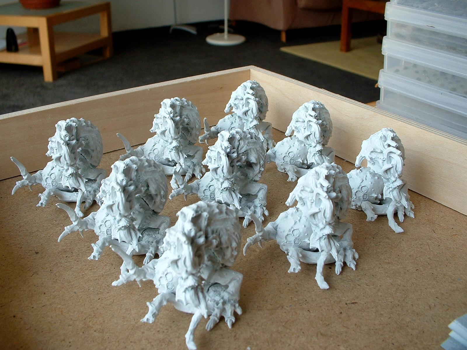 Beasts Of Nurgle, Chaos, Daemons, Nurgle, Primered, Work In Progress