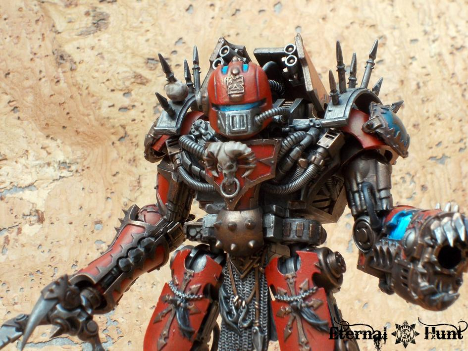 Chaos, Chaos Space Marines, Counts As, Decimator, Dreadknight, Khorne, Kitbash, Wargrinder, Warhammer 40,000, World Eaters