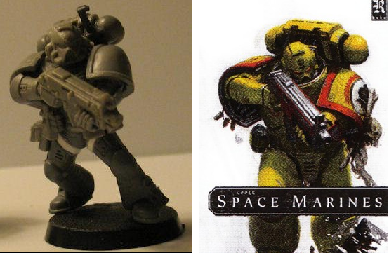 Comparison, Imperial Fists, Limited Edition Cover, Space Marine Codex, Space Marines