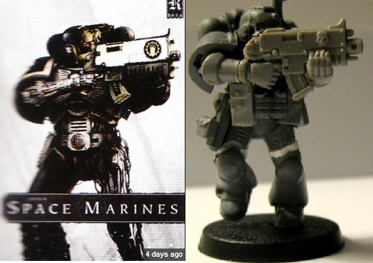 Comparison, Conversion, Iron Hands, Limited Edition Cover, Space Marine Codex, Space Marines