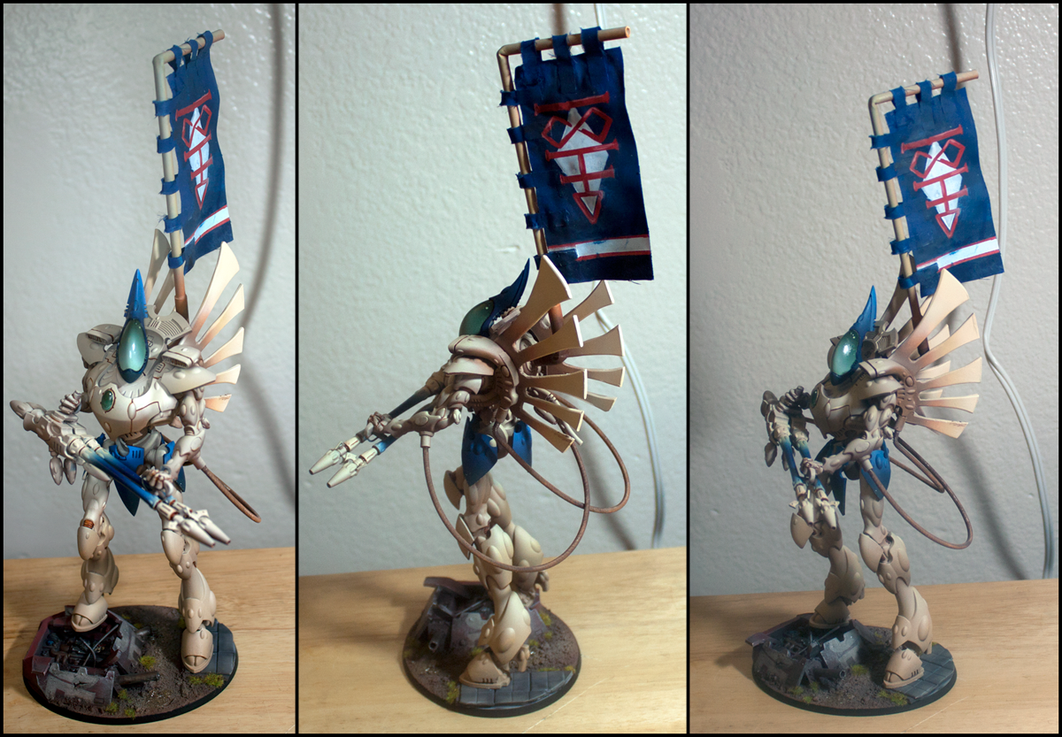 Banner, Dark Reapers, Eldar, Rokugnar, Sashimono, Wraithcannon, Wraithknight