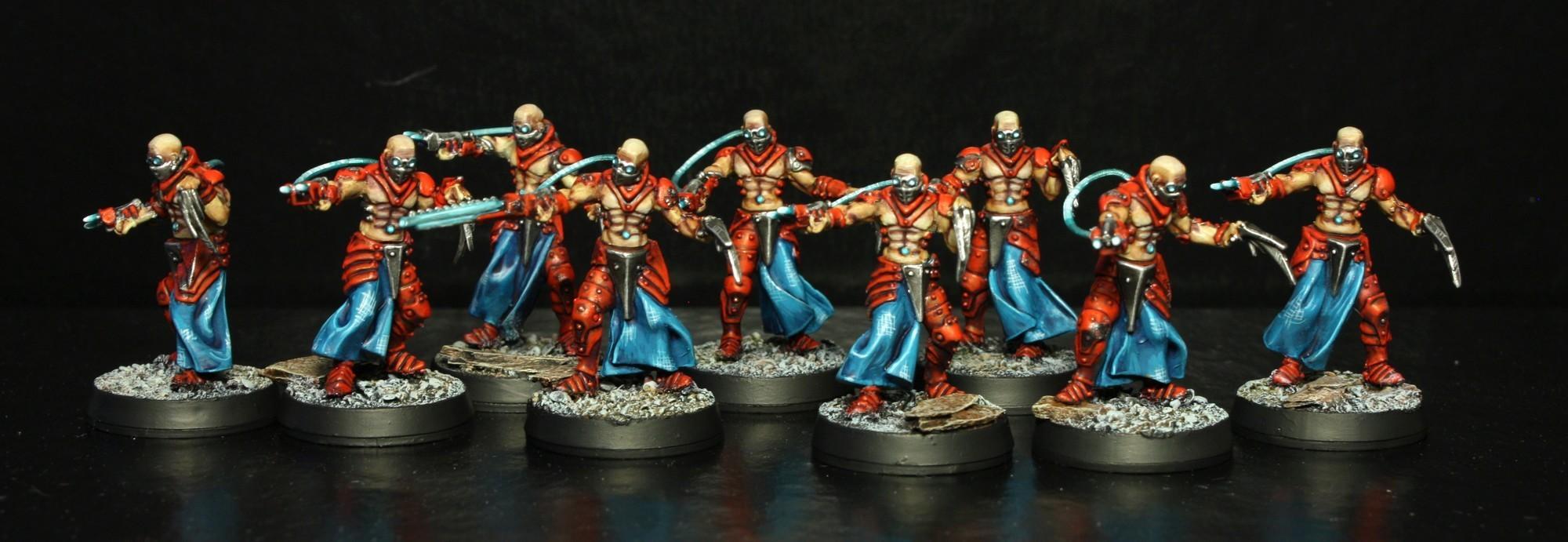 Confrontation, Dark, Dirz, Eldar, Gorgon, Key, Rackham, Red, Turquoise, Wracks