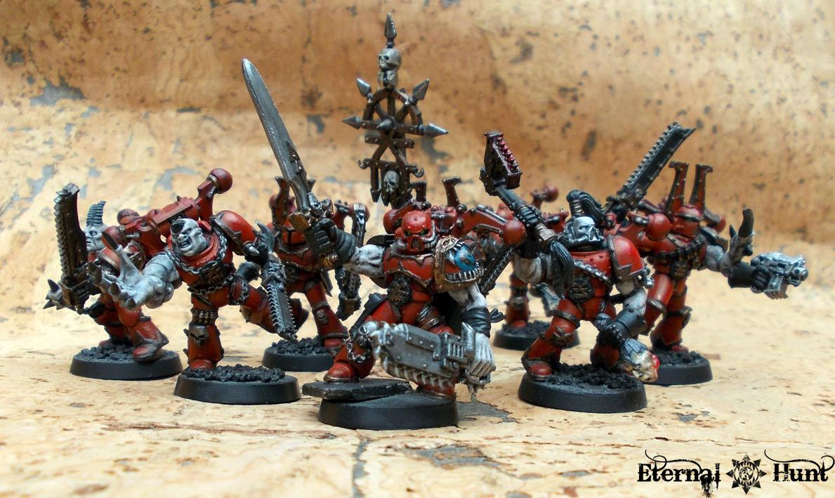 Berserkers, Chaos, Chaos Space Marines, Conversion, Khorne, Possessed, The Lost Brethren, Warhammer 40,000, World Eaters