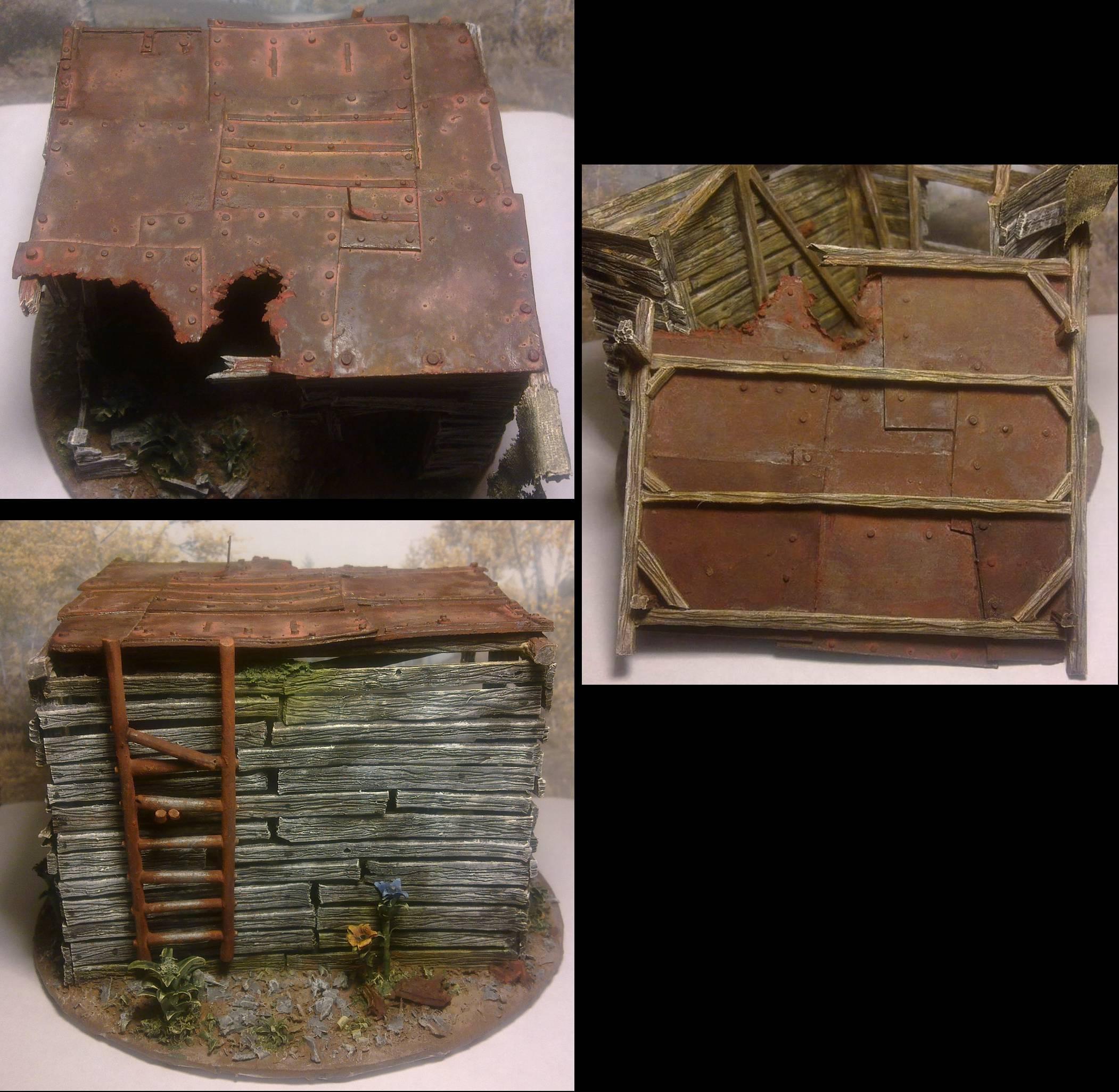 Hut, Scratch Build, Sprue, Terrain, Wood