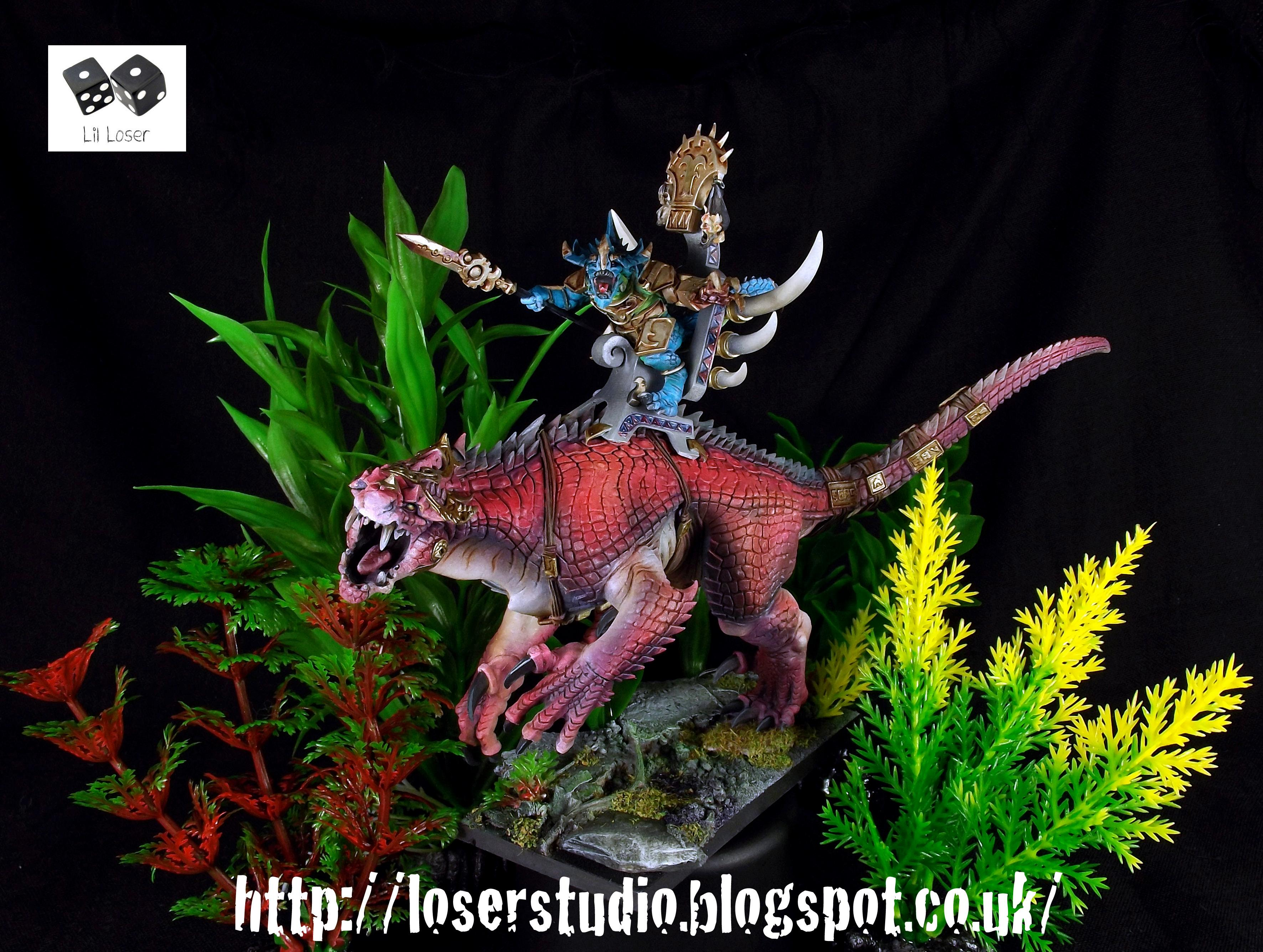 Bastiladon, Carnosaur, Lizardmen, Plastic Skink