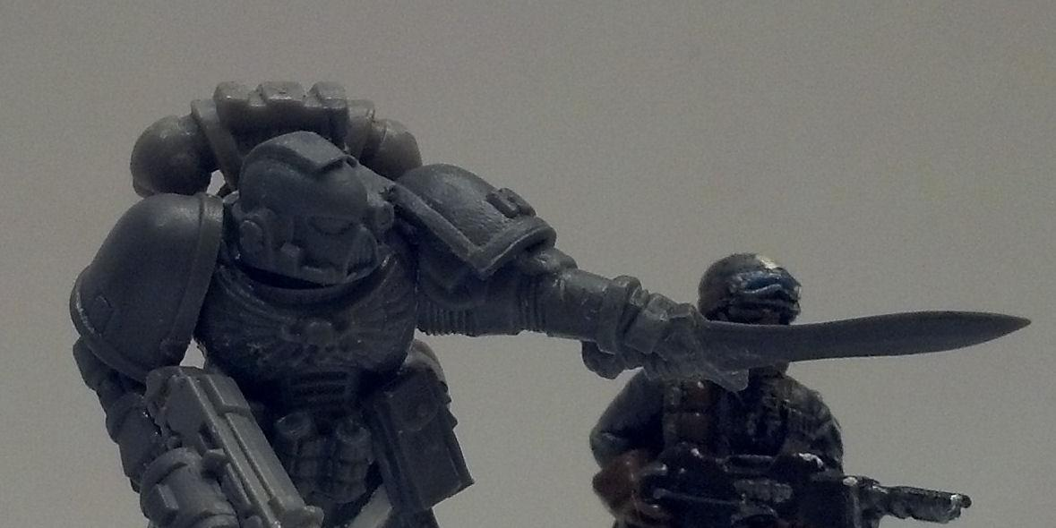 Combimelta, Combiweapon, Conversion, Magnet, Posing, Sergeant, Space Marines, Tall Scale
