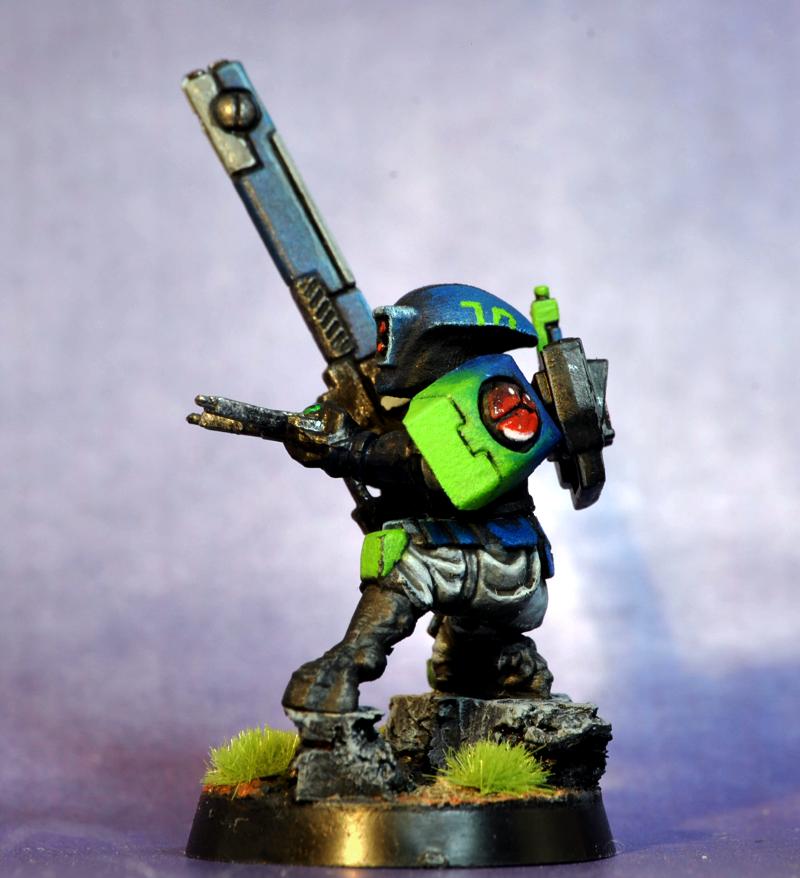 Fire Warriors, Tau, blue green blending