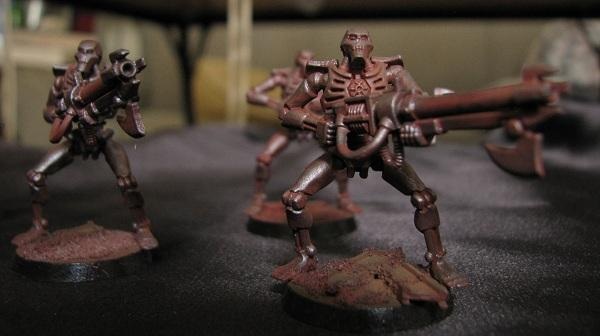 Necron Warriors, Necrons, Rust