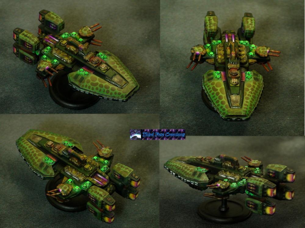 Airbrush, Battlecruiser, Khurasan Miniatures, Starship, Thirdfatecreations