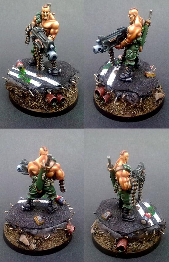Blending, Can, Gunnery Sergeant Harker, Harker, Hb, Heavy Bolter, Imperial Guard, Non-Metallic Metal, Rambo