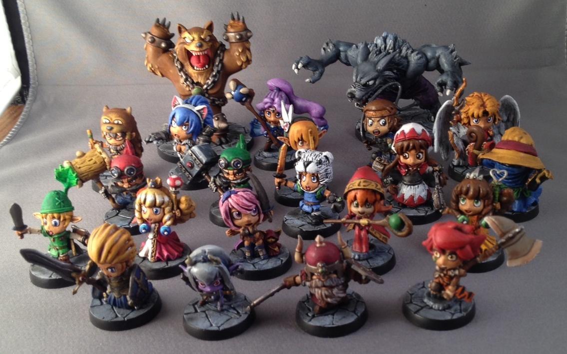 Chibi, Cute, Group, Hero, Sde, Sodapop, Super Deformed, Super Dungeon Explore