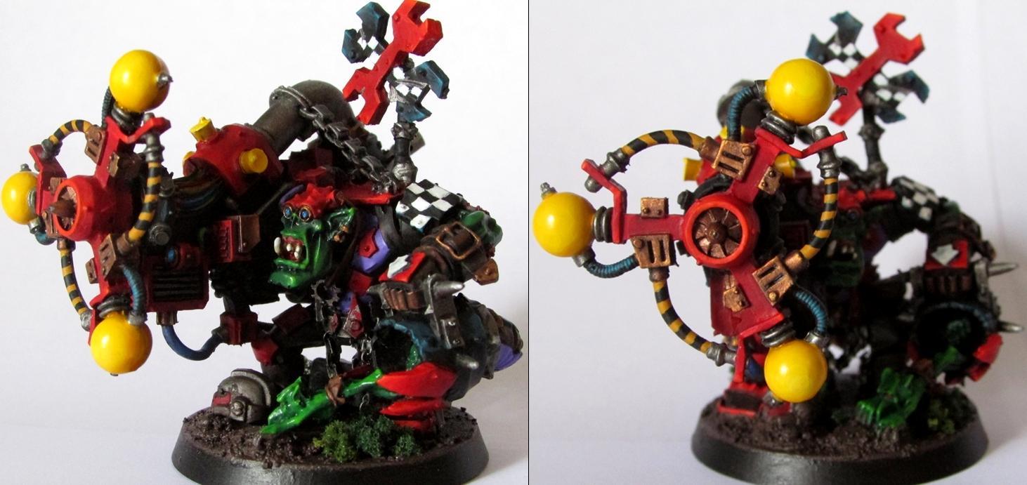 Big Mek, Orks, Shokk Attack Gun, Warhammer 40,000