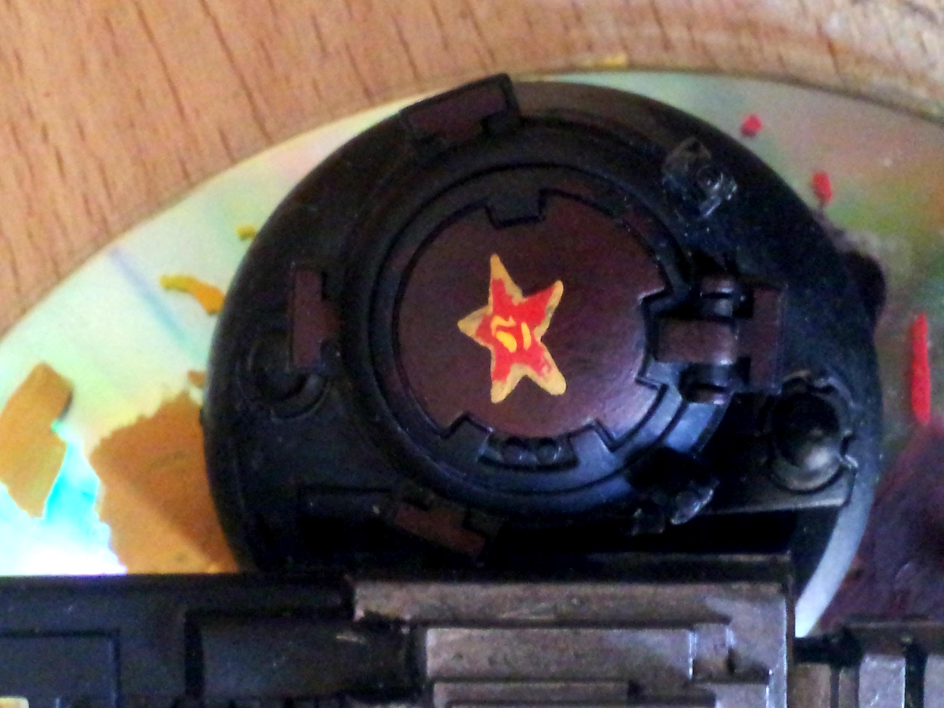 Army, China, Guard, Hammerhead, Hammerhead Turret, Hatch, Not Finished, Railgun, Red, Star, Tank Communist, Tau, Warhammer 40,000