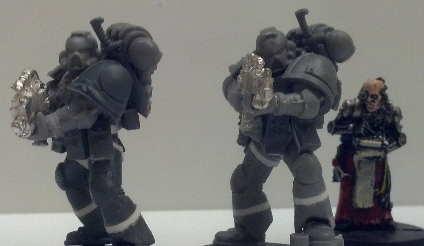 Conversion, Space Marines, Sternguard, Tall Scale, True Scale