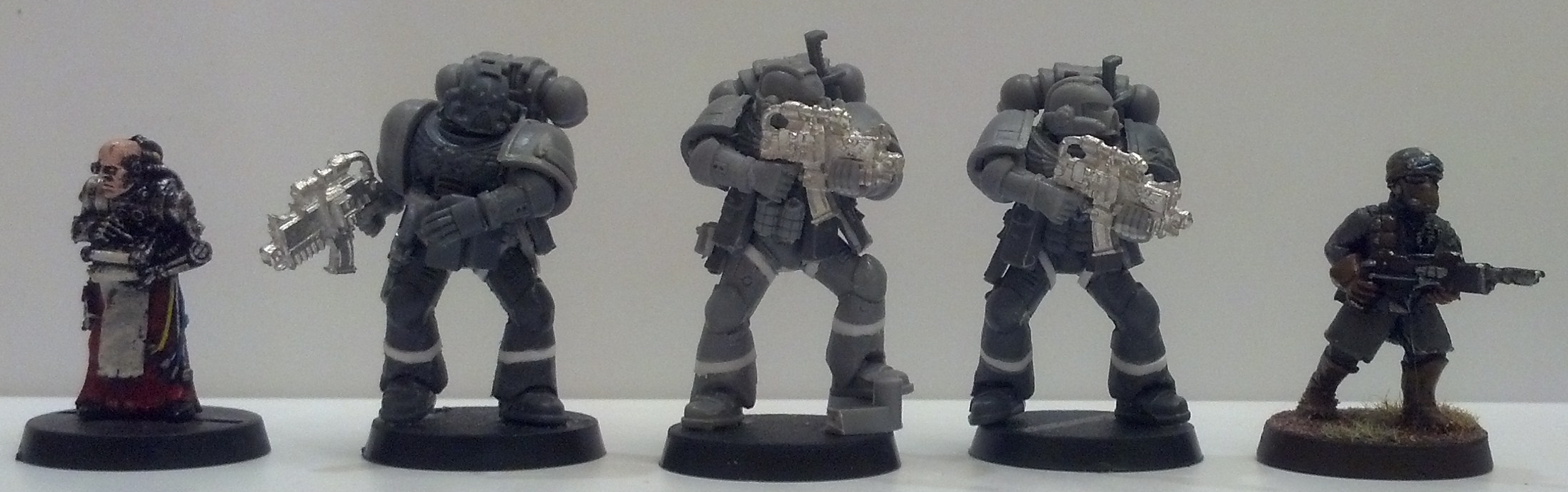 Conversion, Space Marines, Sternguard, Tall Scale