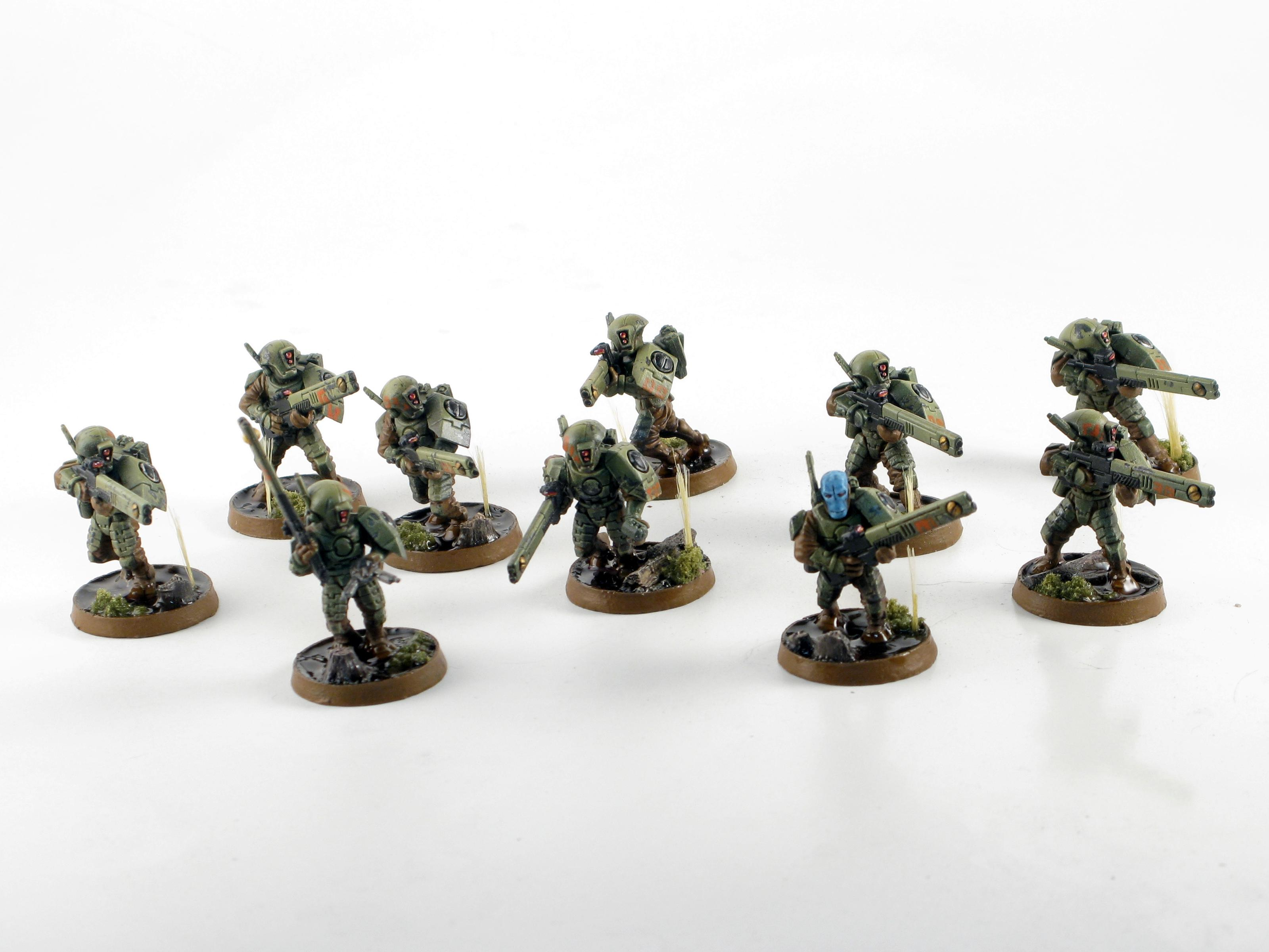 Airbrush, Fire Warriors, Green, Gritty, Oil Wash, Realistic Water, Secret Weapon, Swamp, Tau, Water Effects