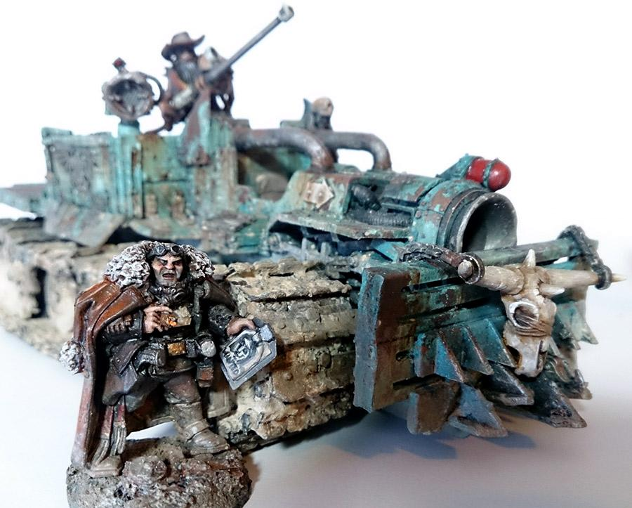 Ash Wastes, Bounty Hunters, Conversion, Ganger, Necromunda, Rust, Truck