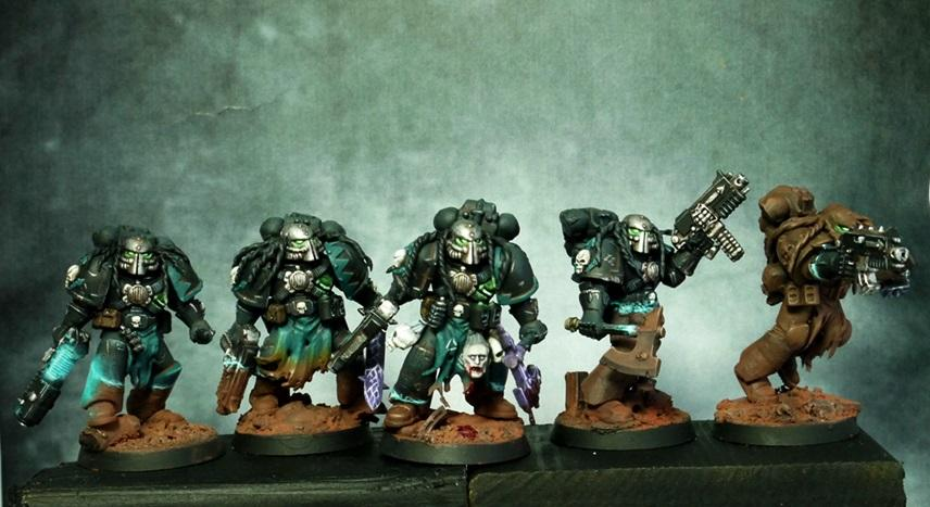 Chaos Space Marines, Ripper Squad, Space Marines