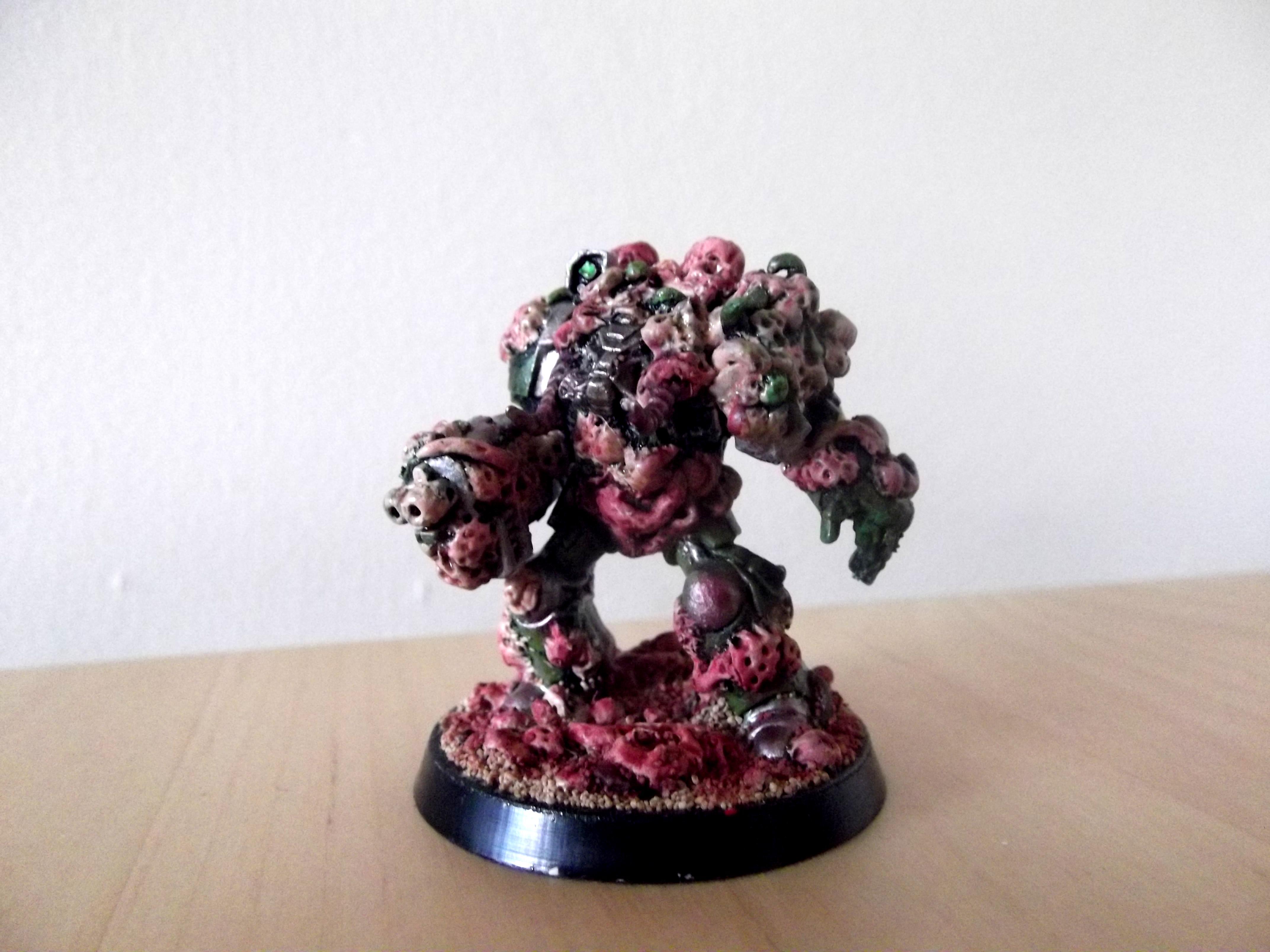 Chaos, Conversion, Daemons, Nurgle, Power Fist, Terminator Armor, Warhammer 40,000, Warhammer Fantasy