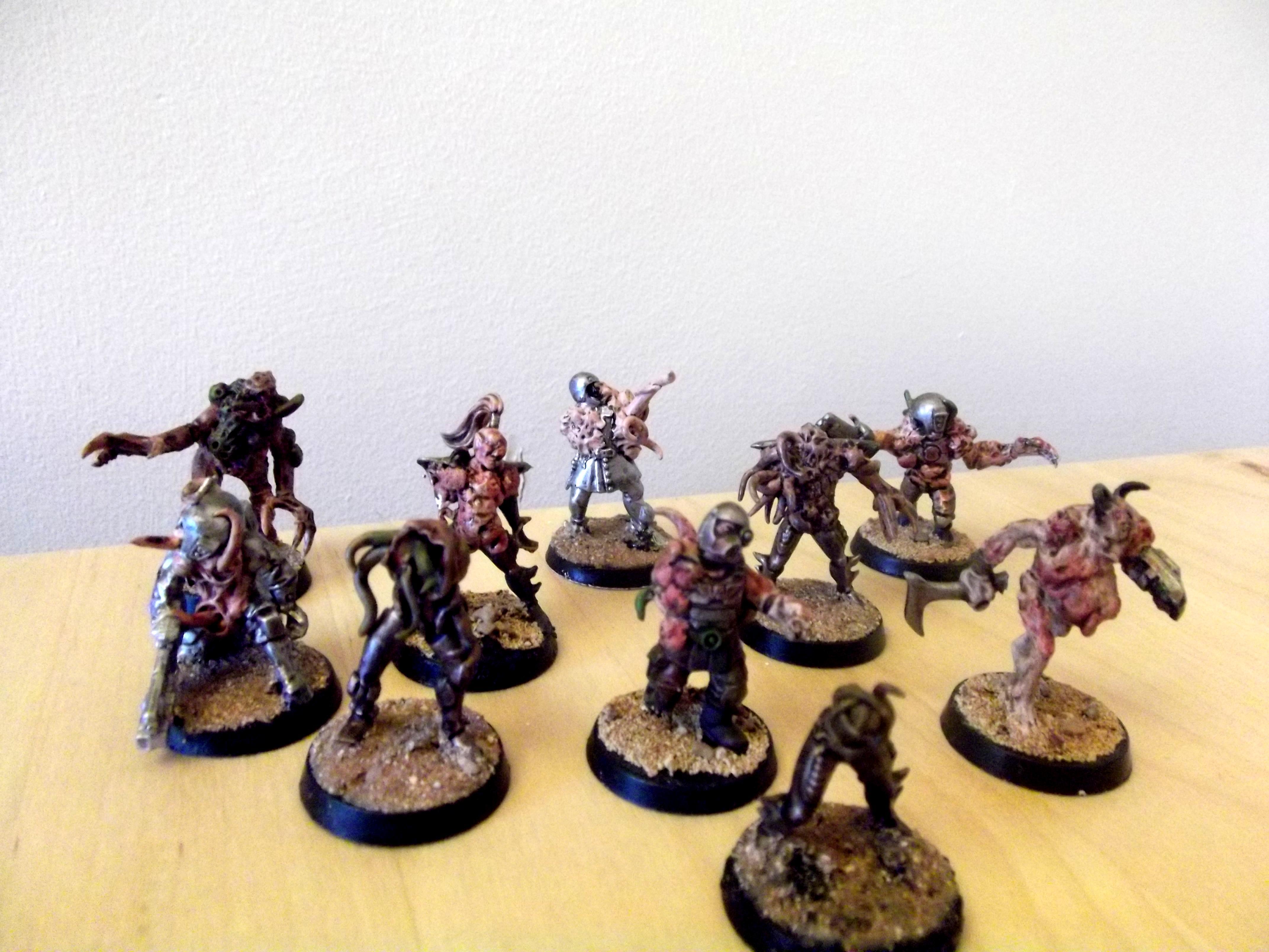 Army, Conversion, Greenstuff, Nurgle, Plague Zombies, Sculpted, Warhammer 40,000, Warhammer Fantasy