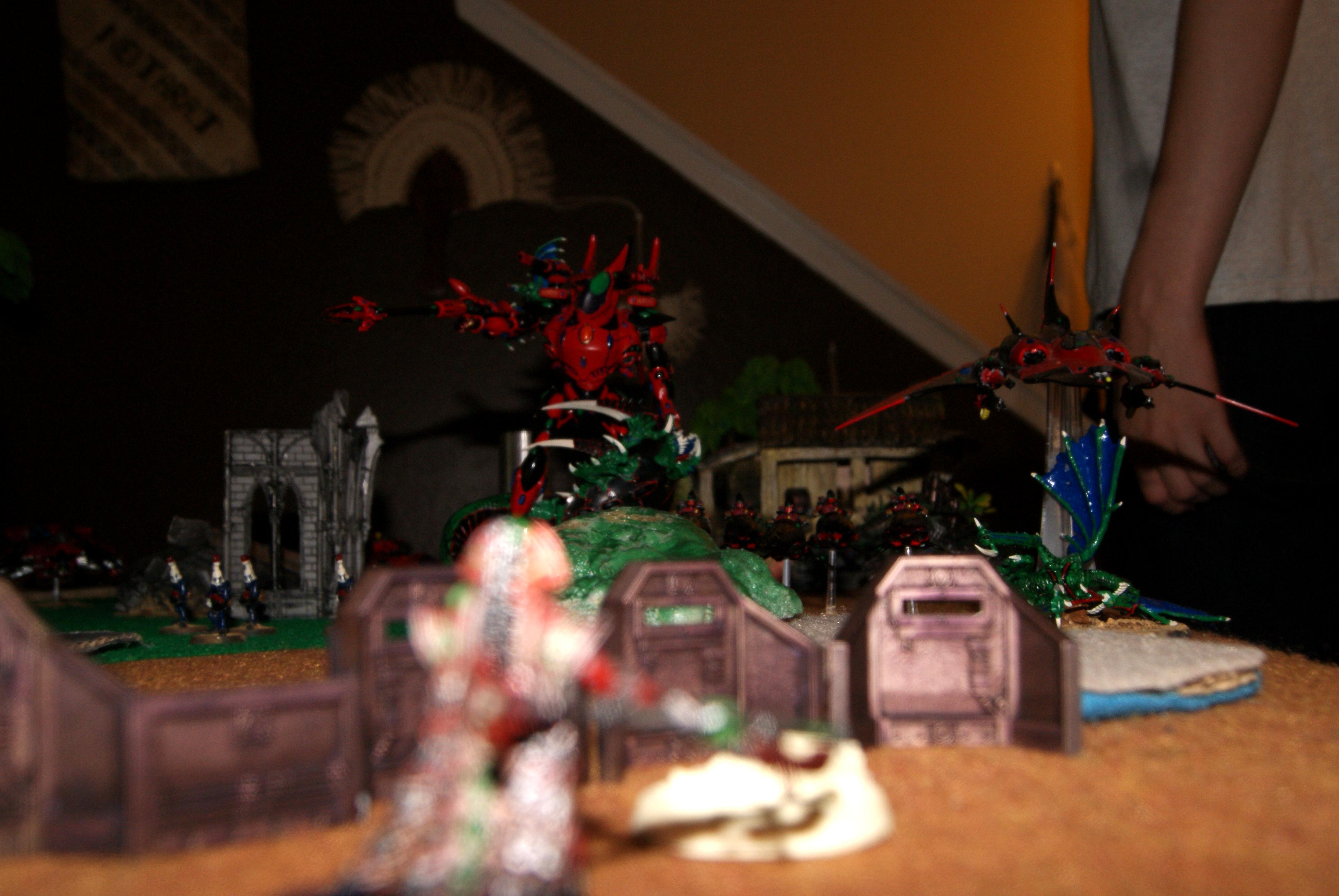 Battle Report, Eldar, Necrons, Terrain