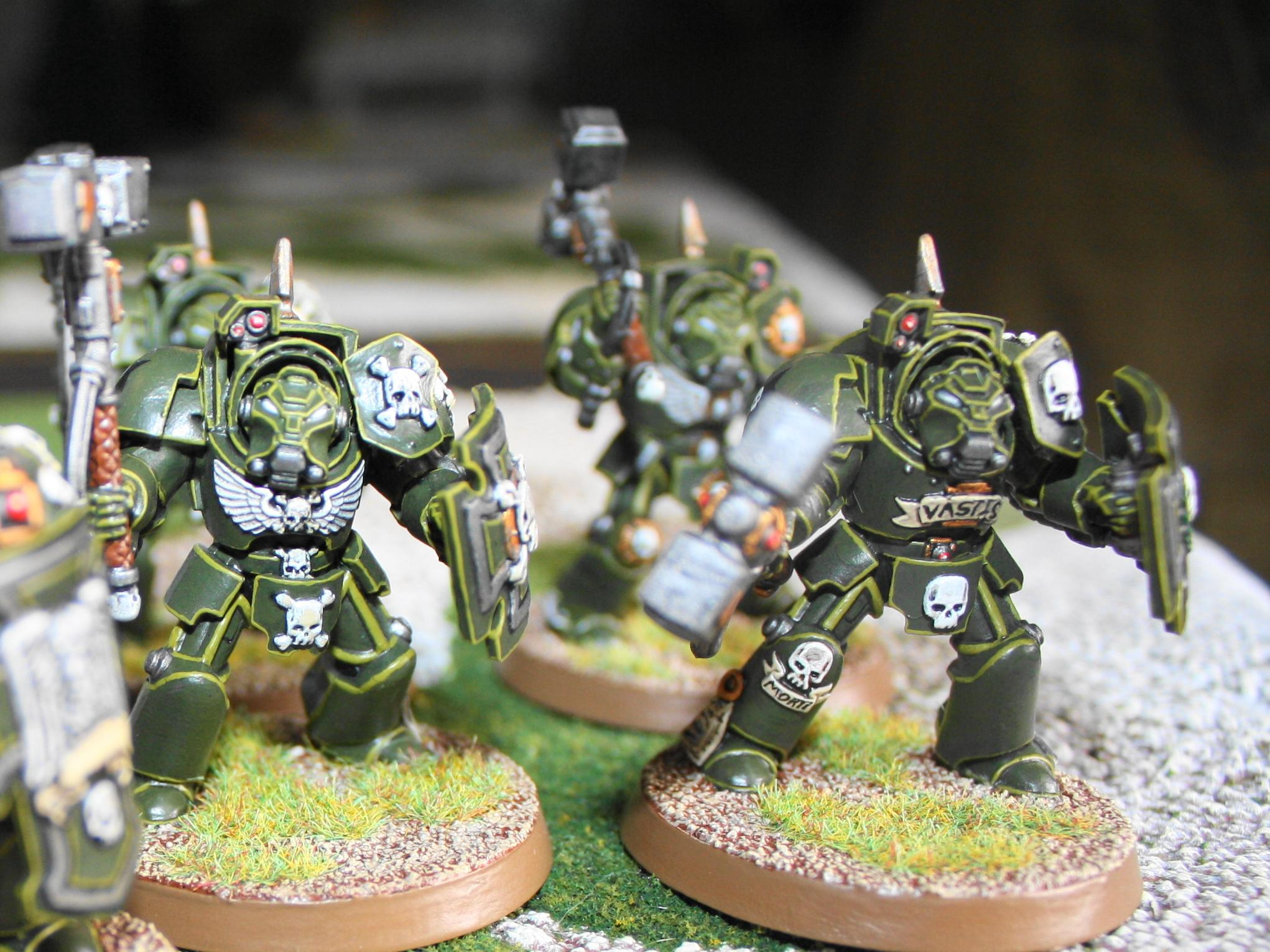 Assault Terminators, Space Marines, Storm Shield & Thunder Hammer