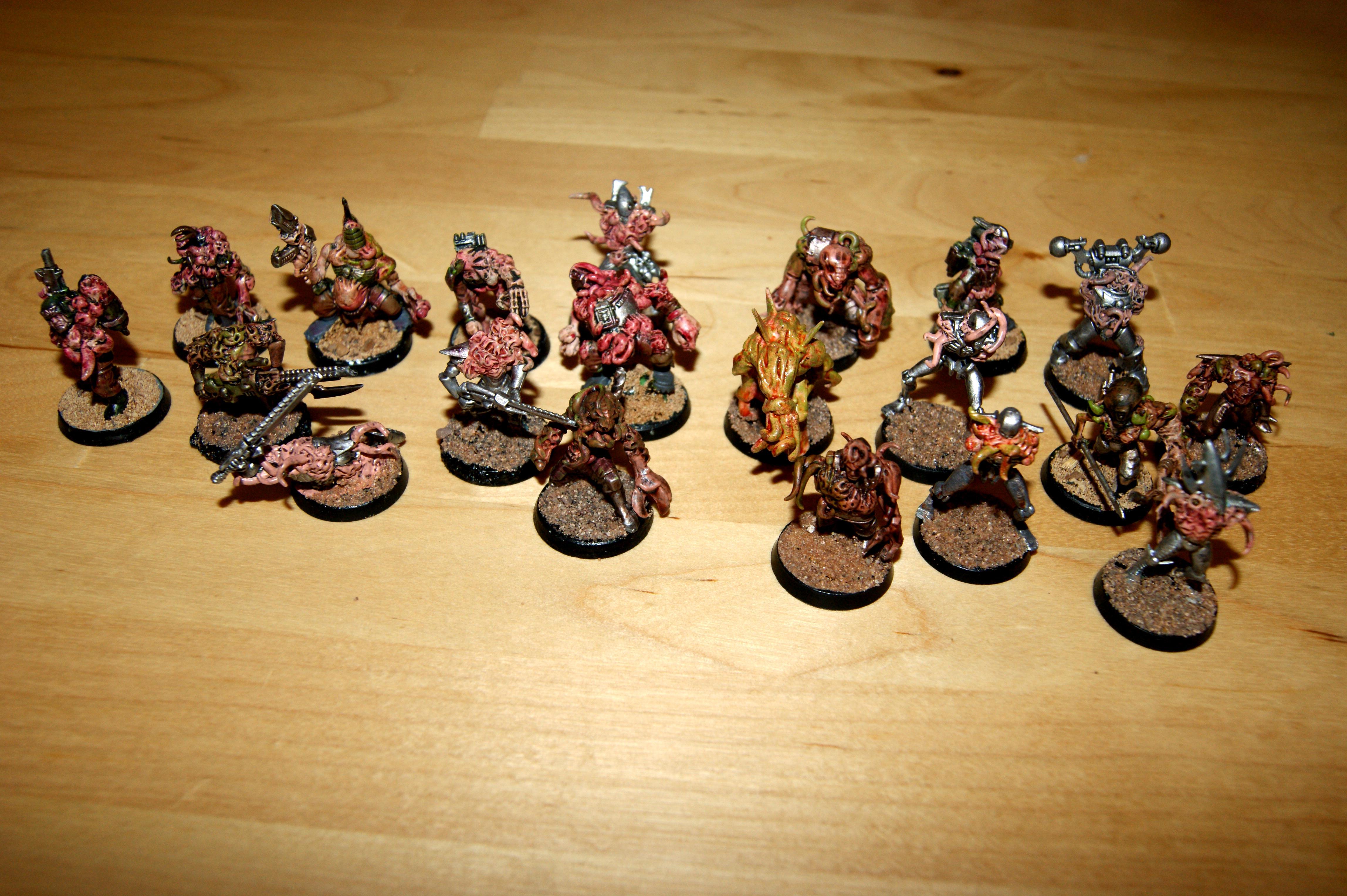 Chaos, Plague Zombies, Scratch Build, Sculpted, Warhammer 40,000, Warhammer Fantasy