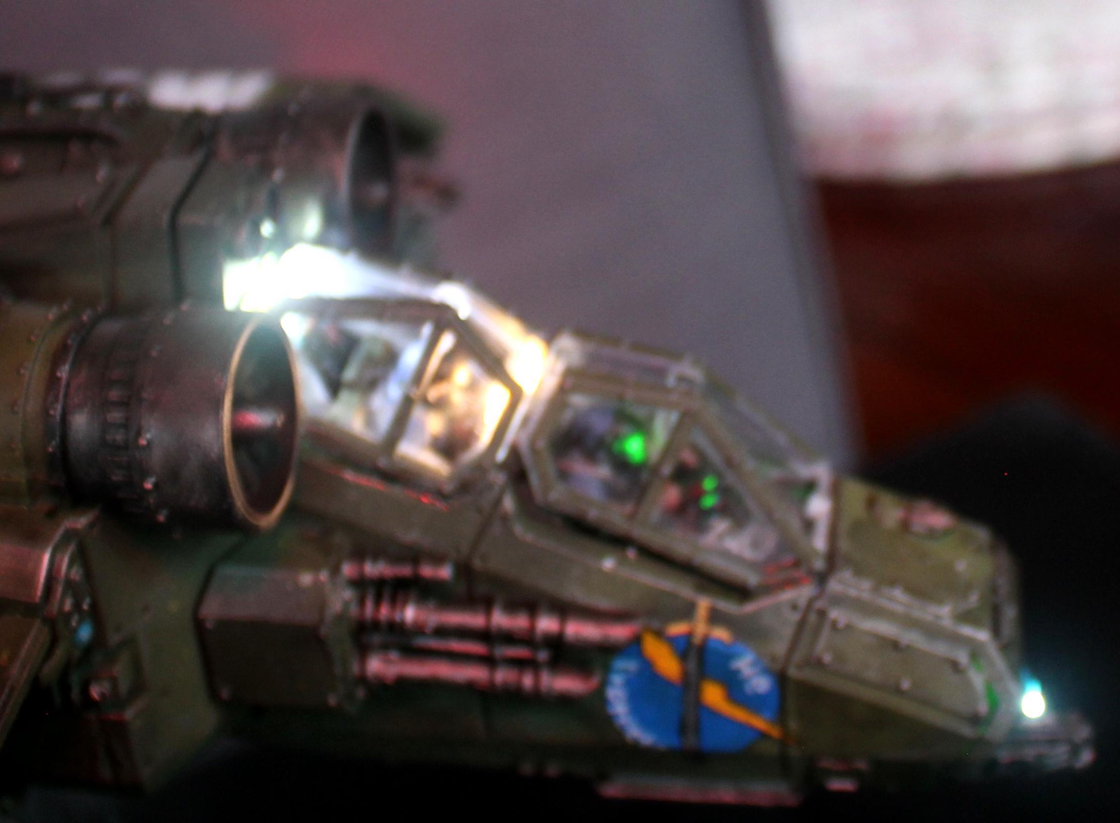 Forge World, Games Workshop, LED, Lights, Valkyrie, Vendetta, Warhammer 40,000, Wired
