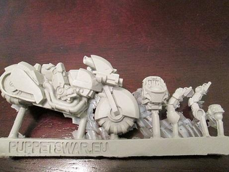 Motorcycle, Puppets War, Space Marines