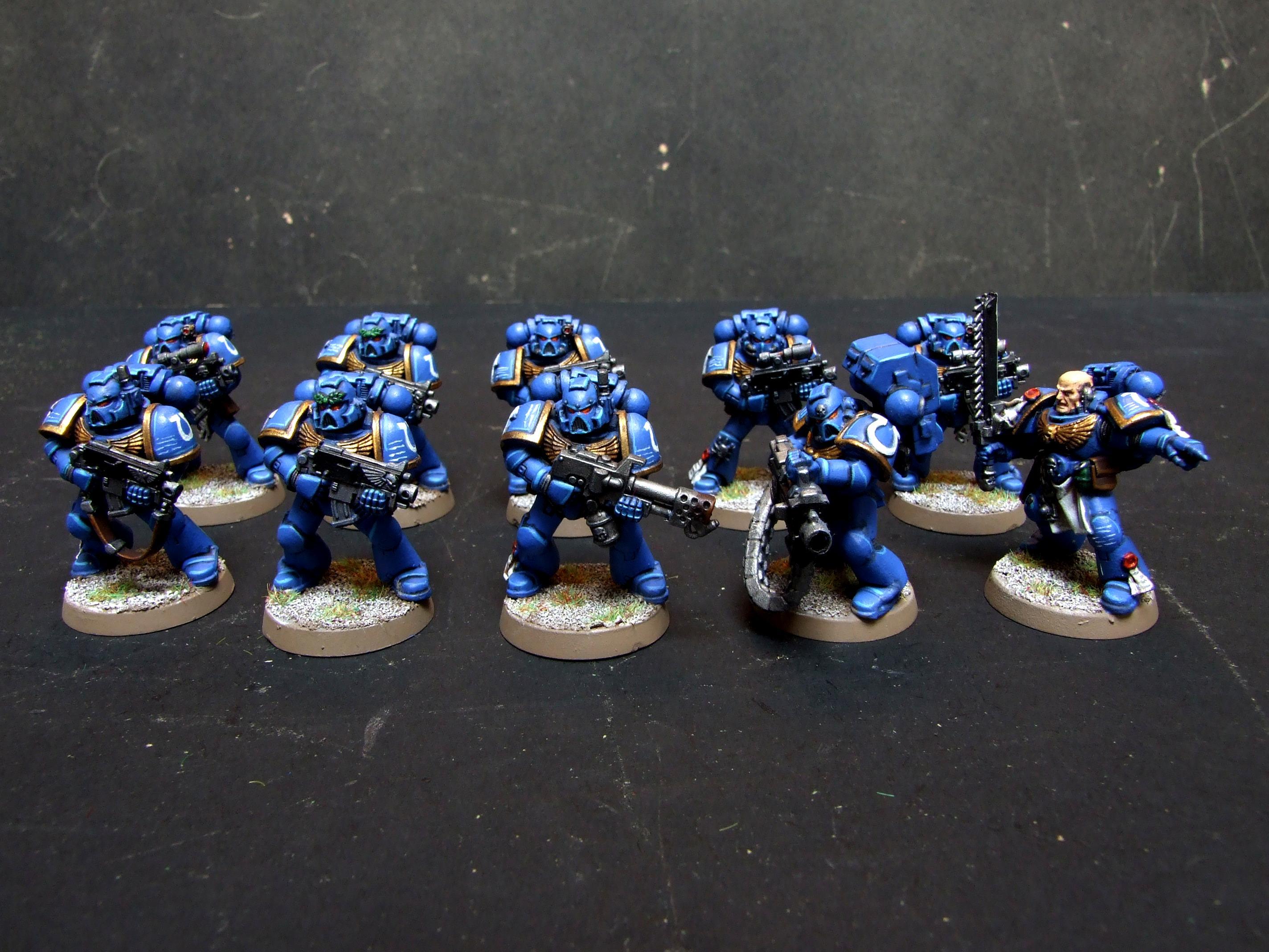 Assault On Black Reach, Blue, Flamer, Heavy Bolter, Imperial, Sergeant, Space Marines, Ultramarines, Warhammer 40,000