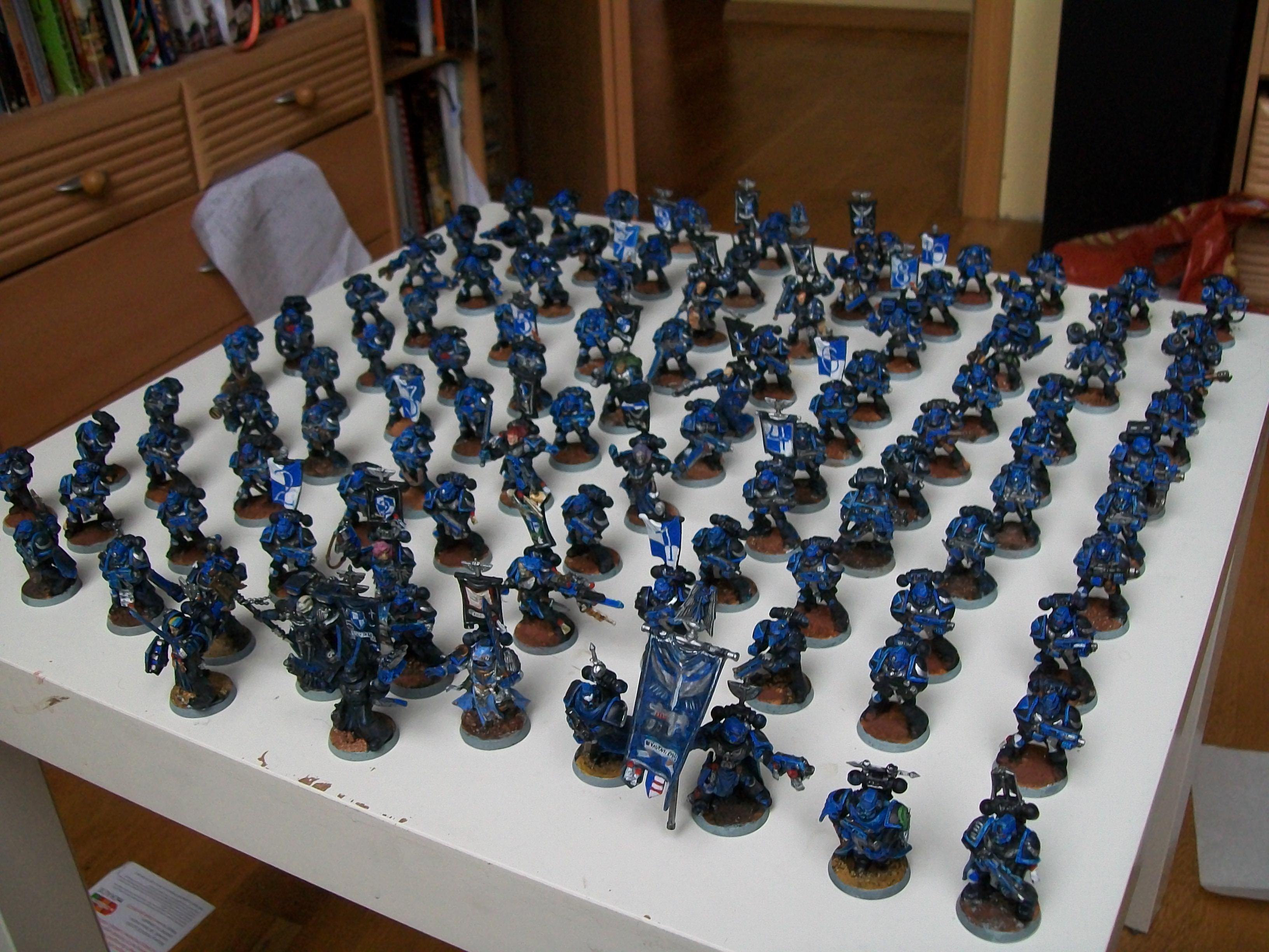 Full battle company of Adeptus Astartes