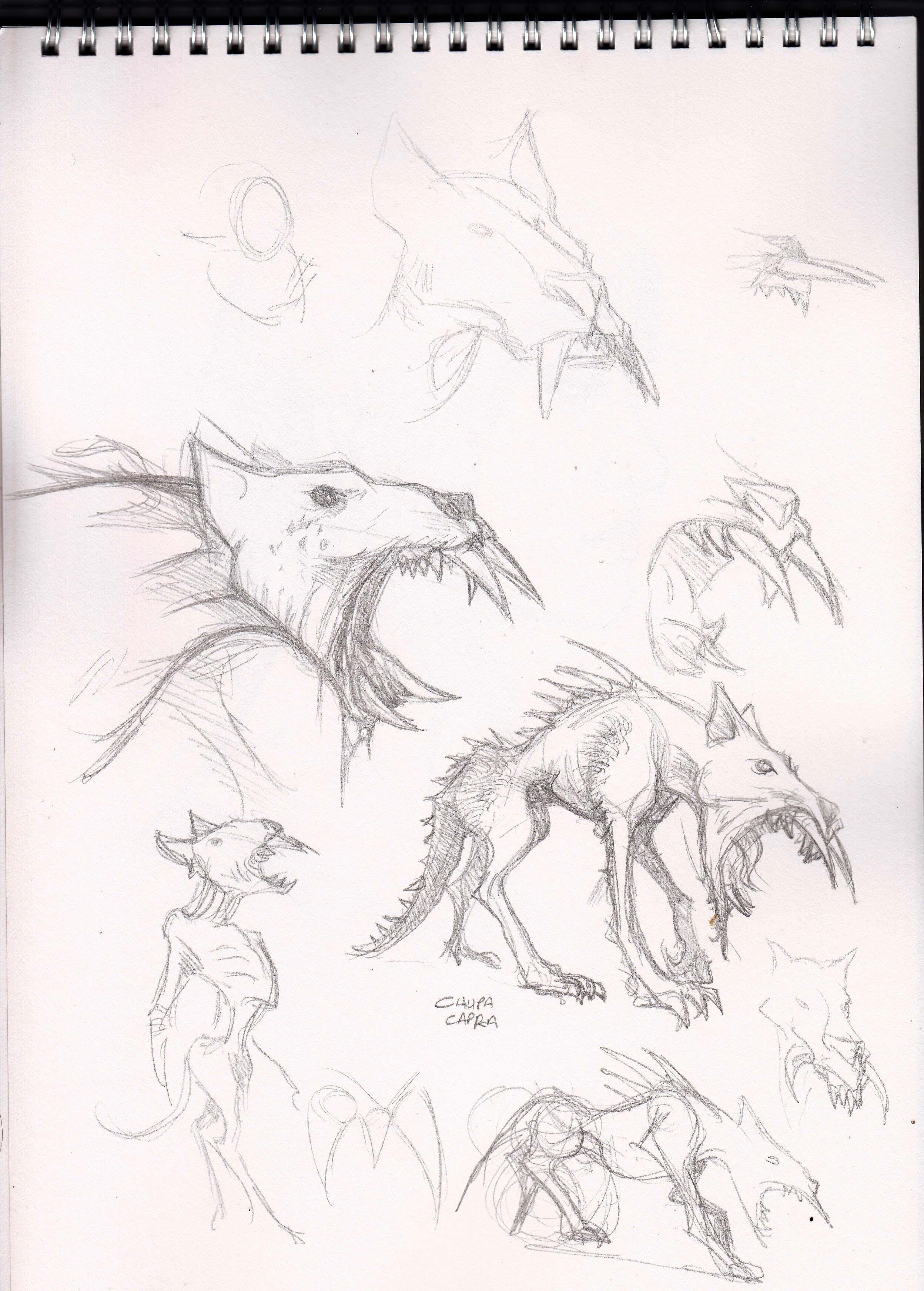 Chupacabra Sketch WIP