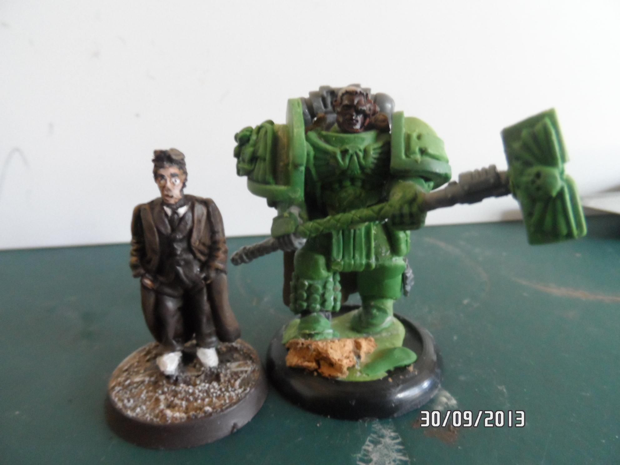 Chapter Master, Dr Who, Imperial Fists, Sculpting, True Scale