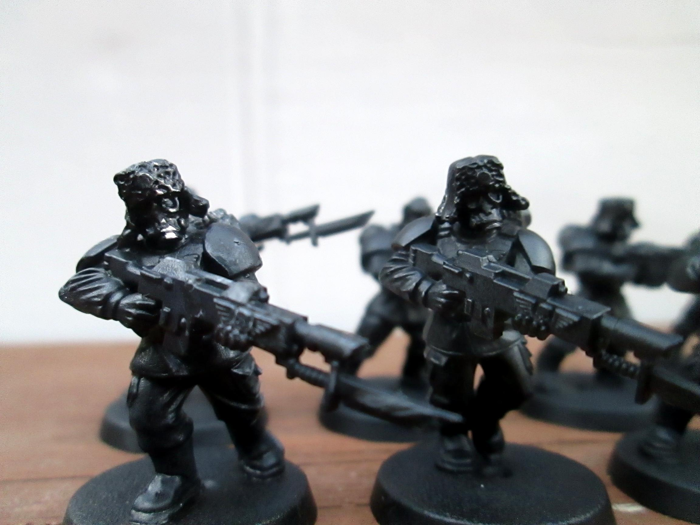 Cadians, Imperial Guard, Meatshield, Pig Iron, Regiment, Shock, Troops, Urban, Winter, Work In Progress