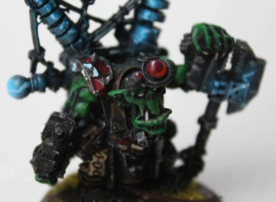 Big Mek, Orks, Shokk Attack Gun, Warhammer 40,000, Weirdboy