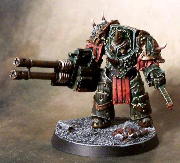 Death Guard, Golden Demon, Nurgle, Reaper Autocannon, Terminator Armor