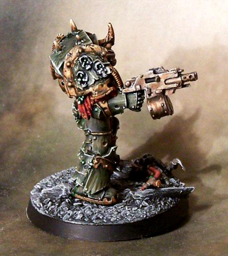 Chaos Space Marines, Death Guard, Forge World, Nurgle, Terminator Armor, Weathered
