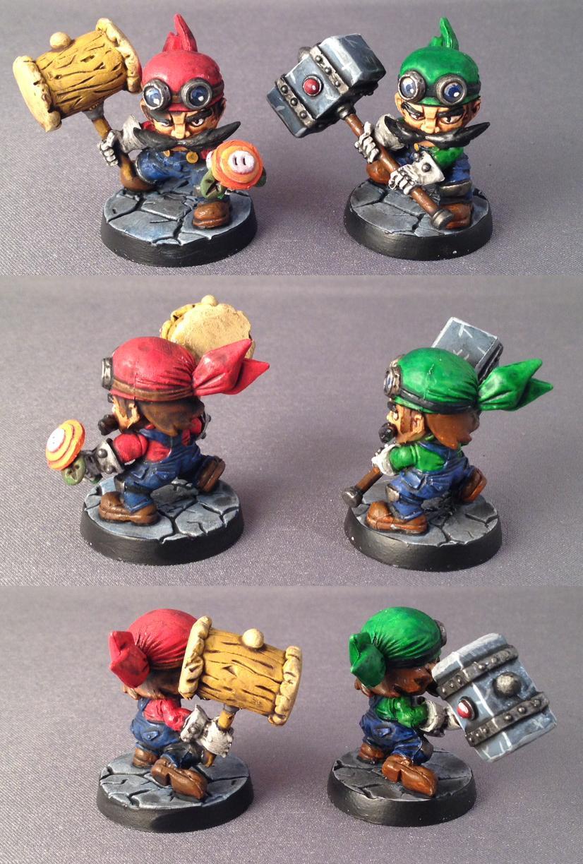 Luigi, Mario, Sde, Sodapop Miniatures, Super Dungeon Explore