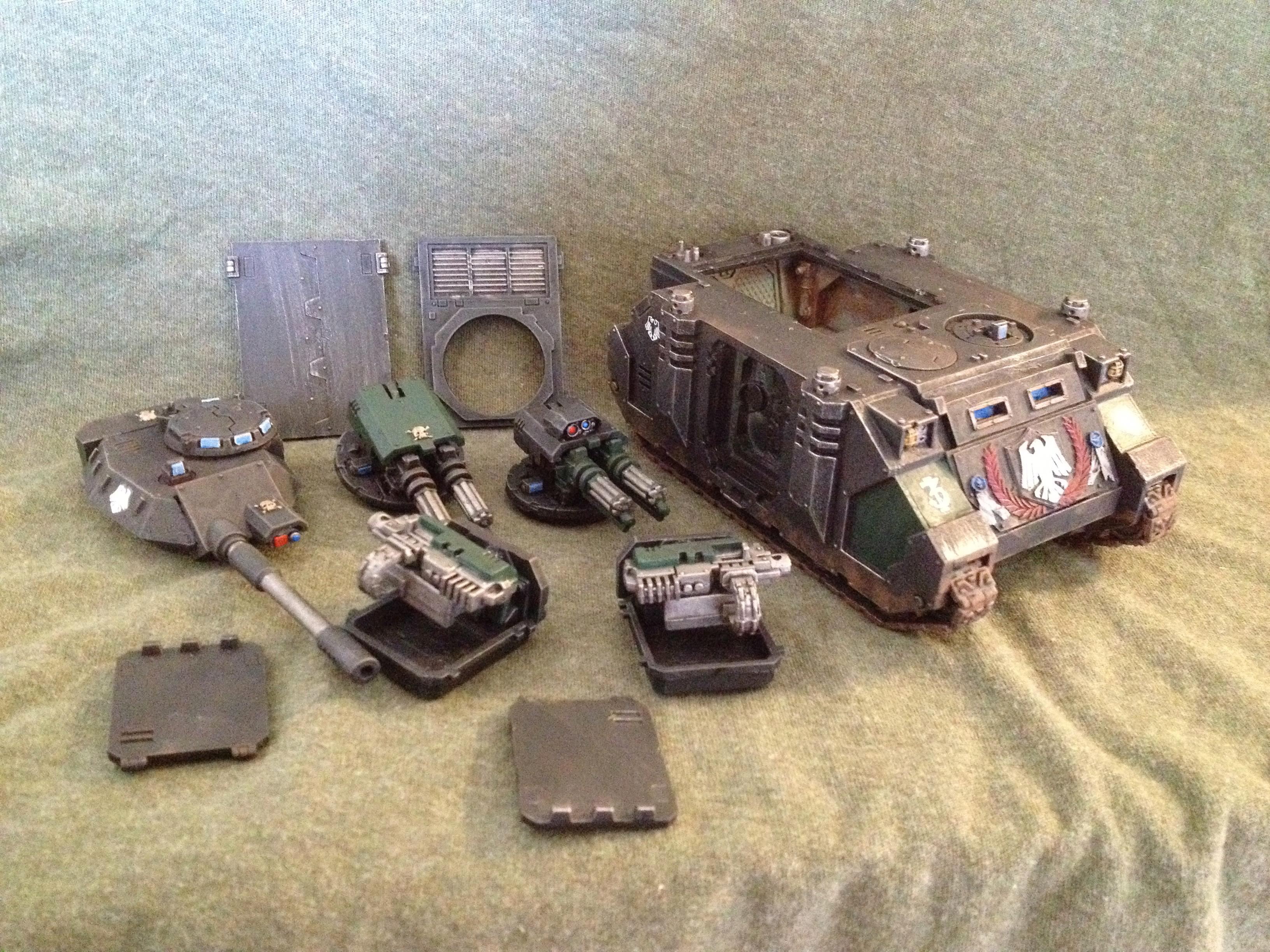 Magnetised, Predator, Raven Guard, Razorback, Rhino, Space Marines