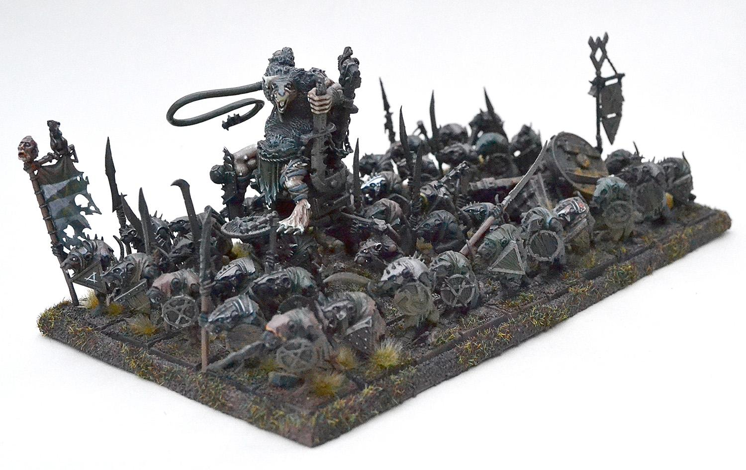 Skaven Warlord in unit (kitbashed)