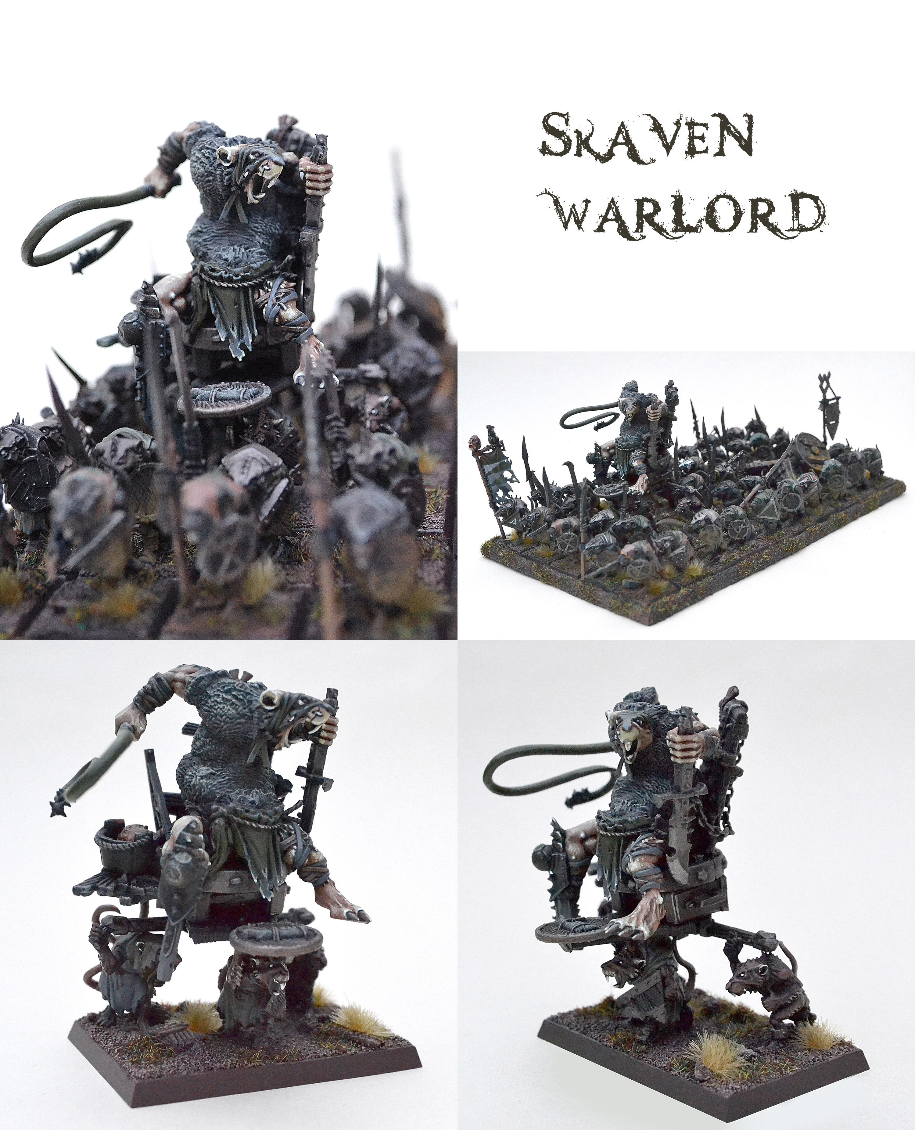 Skaven Warlord on throne (kitbashed)