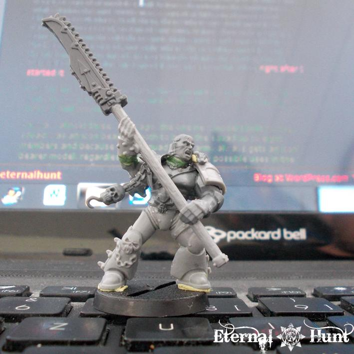 Chain Glaive, Chaos, Chaos Space Marines, Conversion, Gladiator, Khorne, Warhammer 40,000, Work In Progress, World Eaters