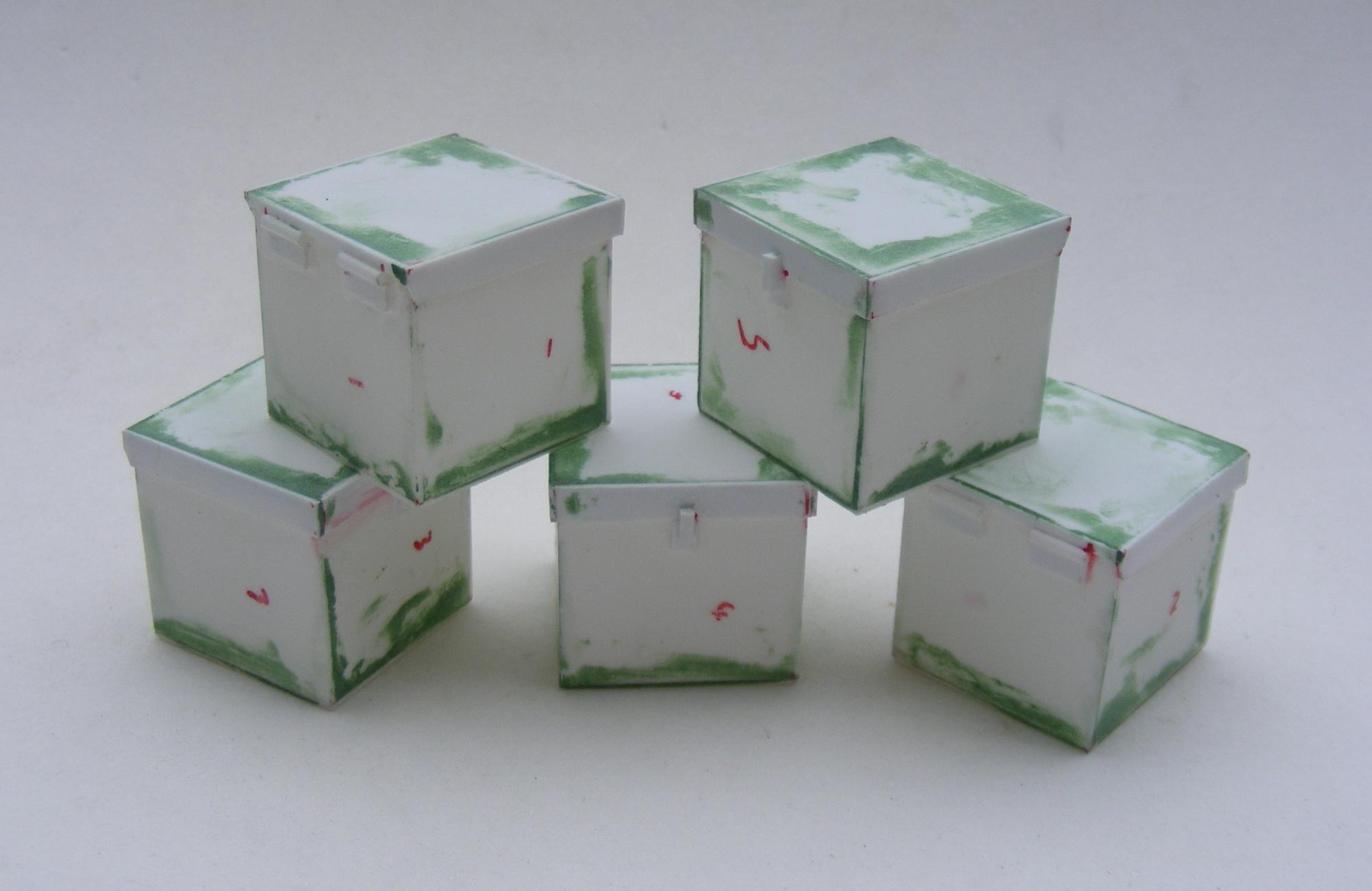Metal boxes..