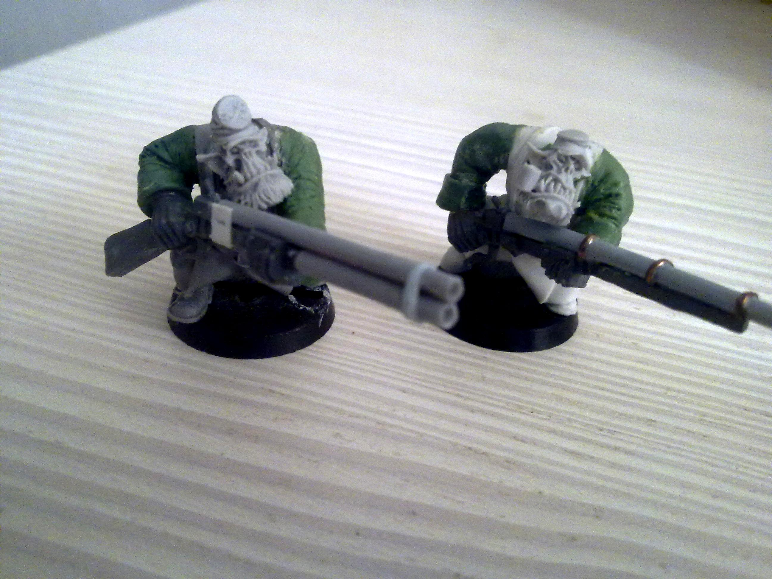 Conversion, Greenstuff, Orks, Shoota Boyz