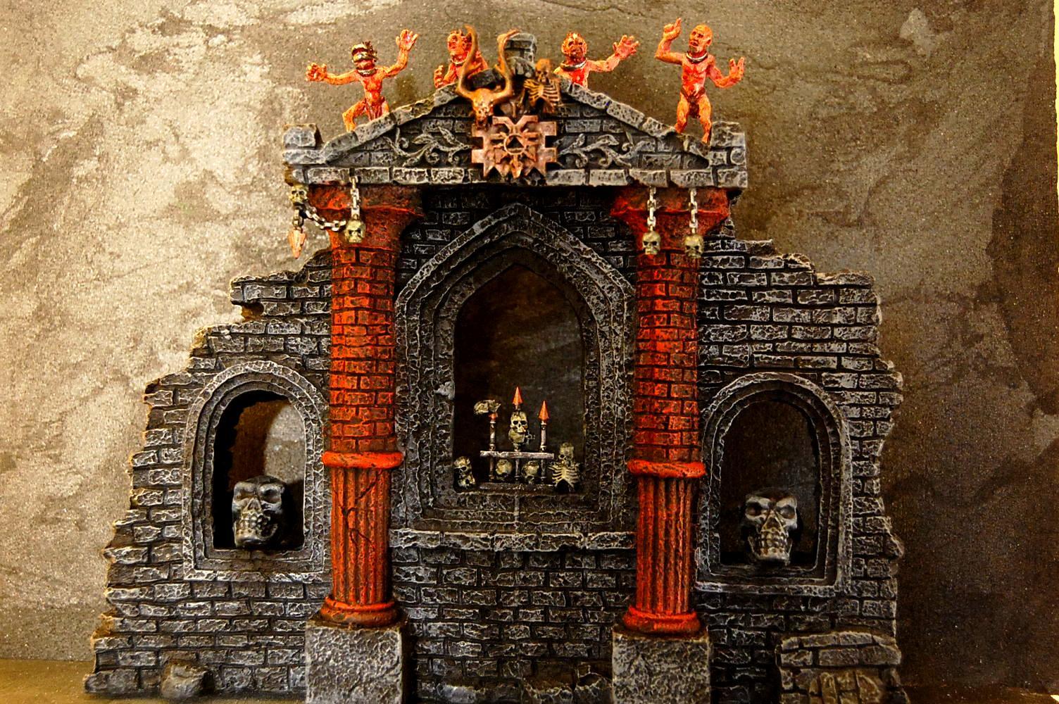 Aquarium, Chaos Shrine, Gwar, Khorne, Shrine, Temple, Terrain